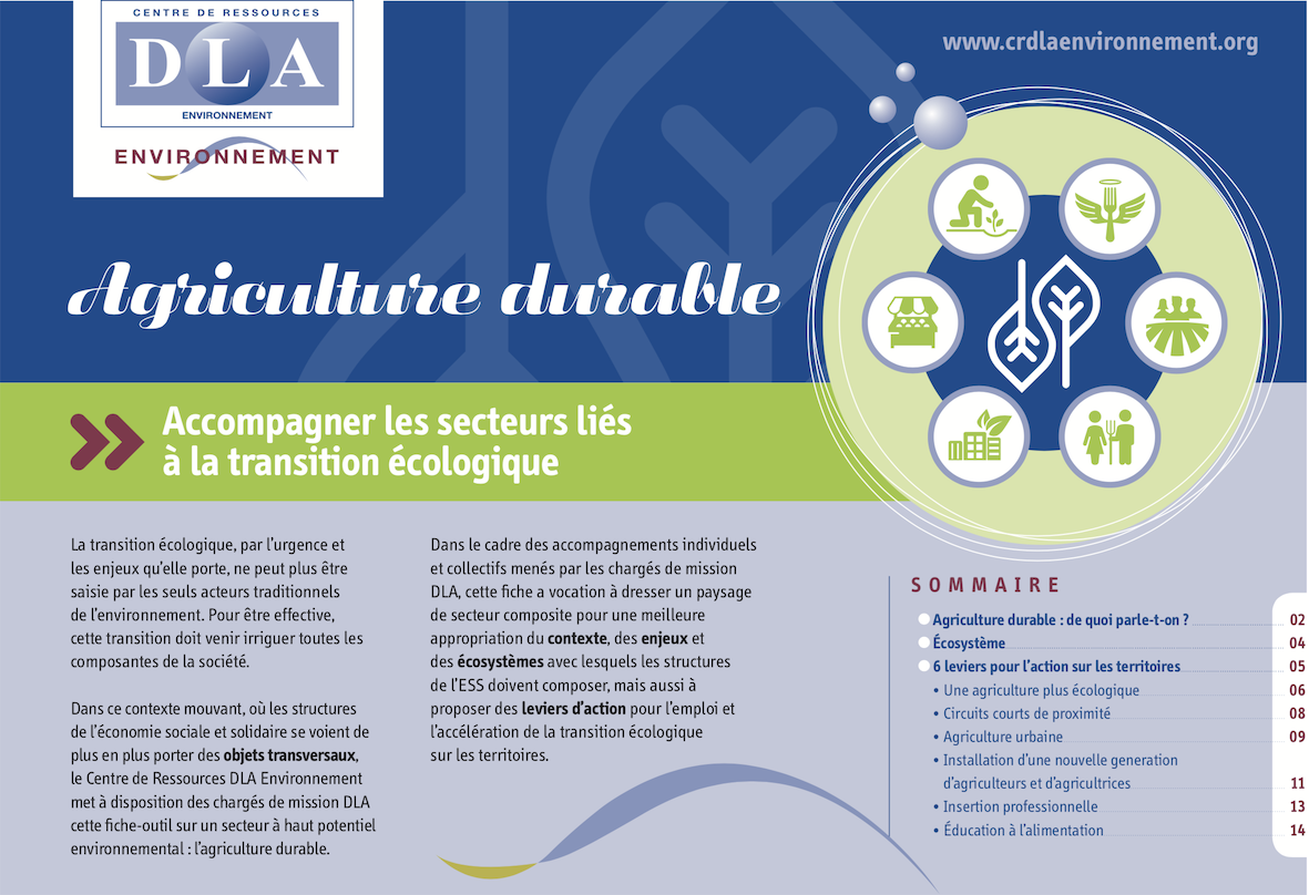 "Fiche-outil ""agriculture durable"""